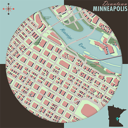 Minneapolis, Minnesota square map