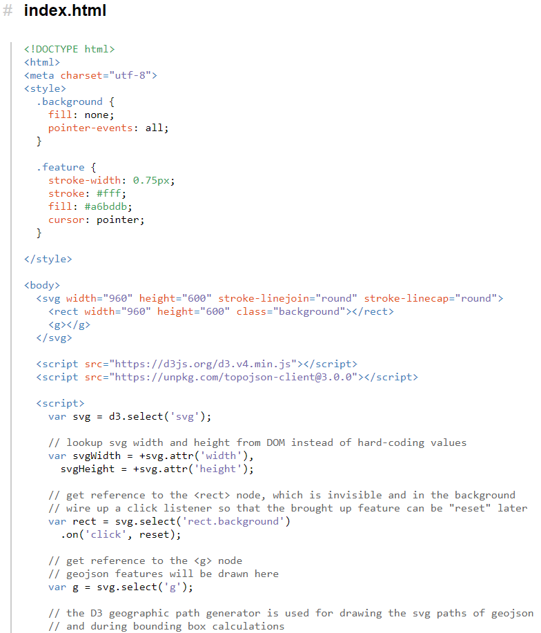 screenshot of D3 code sample