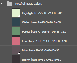 Kystfjell Base Colors