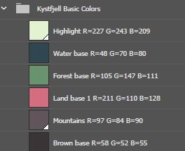 Kystfjell Base Colors