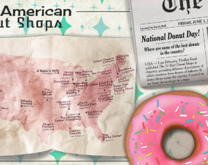 Donut Map by Sarah Bell