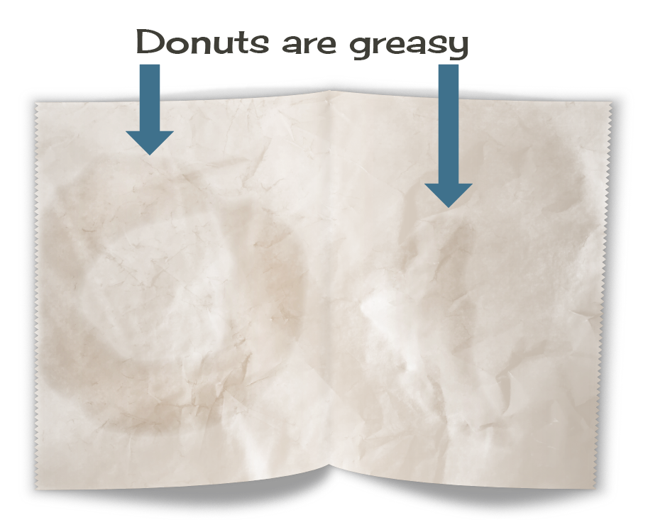 Grease spots in bakery tissue